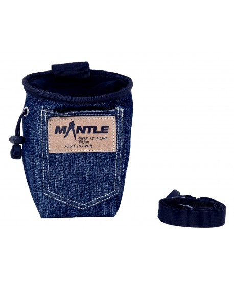 MANTLE - Sacchetto Porta Magnesite Denim Jeans -
