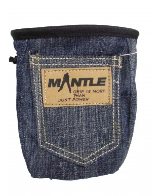 MANTLE - Sacchetto Porta Magnesite Denim Jeans