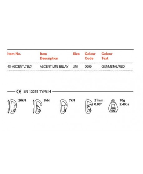 Wild Country - Ascent Belay Lite -