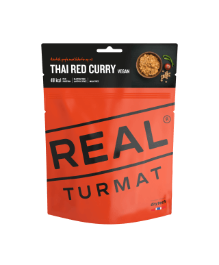 Real Turmat - Thai Red Curry, outdoor meal