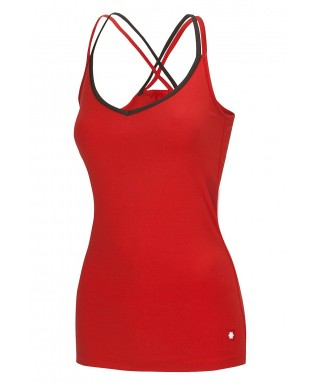 Ocun - Corona Top Rosso, women's climbing top