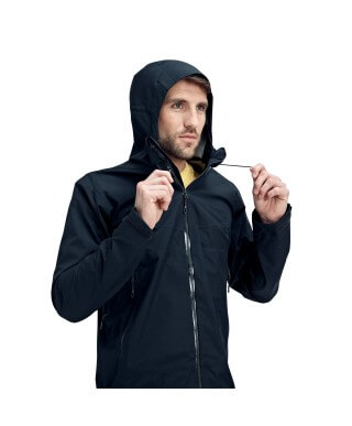 MAMMUT - Convey Tour HS Hooded Jacket homme 2020, coque Gore-Tex Marine