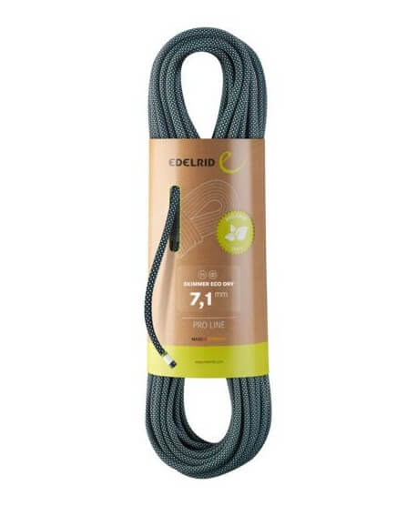 Edelrid - Skimmer Eco Dry 7,1mm, mezza corda superleggera | MountainGear360 -