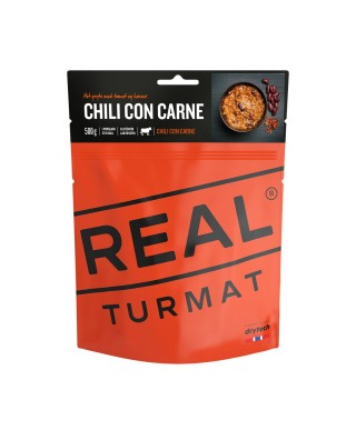 Real Turmat - Chili with meat, nutritious and tasty meal for outdoor use