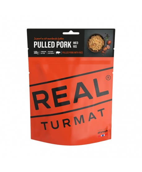 Real Turmat - Pulled pork with rice, pasto outdoor