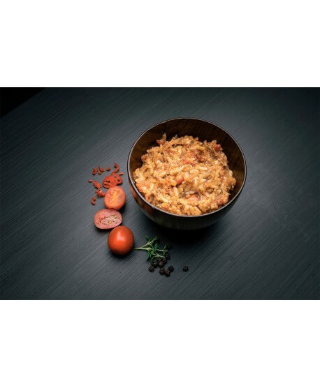 Real Turmat - Pulled pork with rice, pasto nutriente e gustoso per uso outdoor