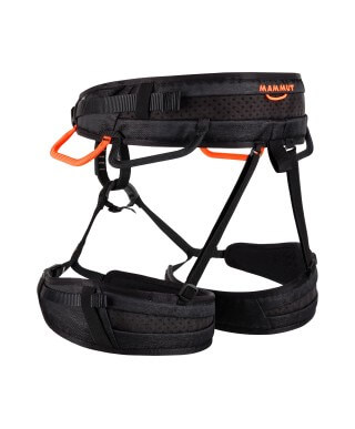 MAMMUT - Ophir 4 Slide, Black-safety Orange multipurpose harness