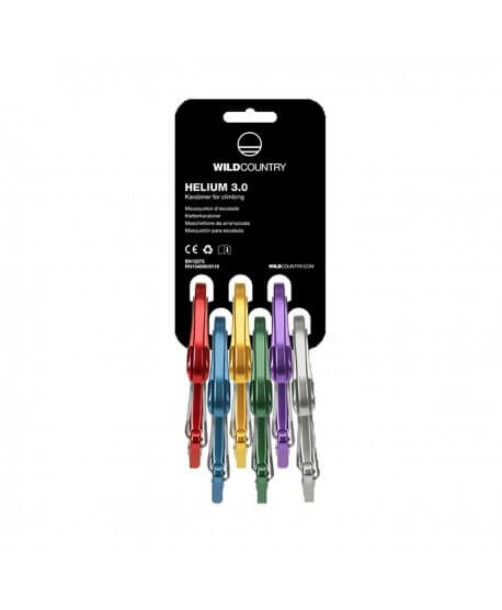 Wild Country - Helium 3.0 6pcs, carabiners with wire lever