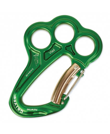 Grivel - Vlad, carabiner with belay plate