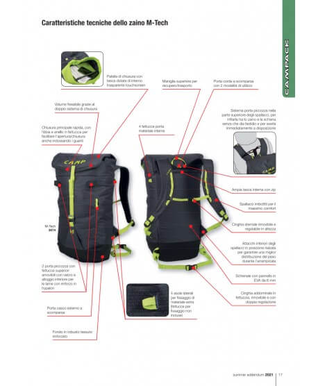 CAMP - M-Tech 22l technical mountaineering backpack -